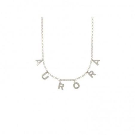 Collana con nome pendente in argento 925 personalizzato