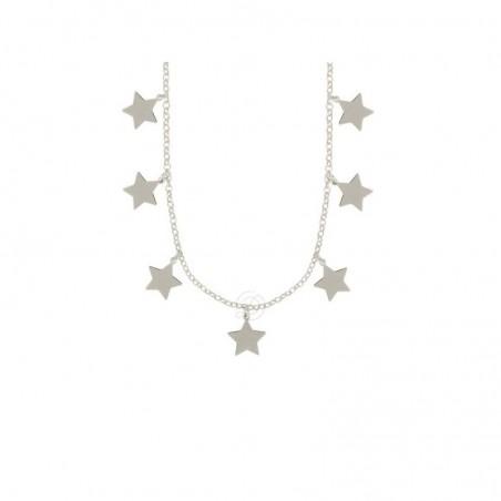 Collana con stelle pendenti argento 925