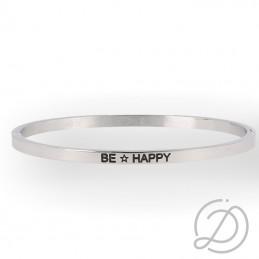"""Bracciale rigido """"Be Happy""""..."""
