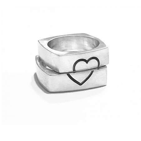 Anello Cube Love realizzato in argento 925%