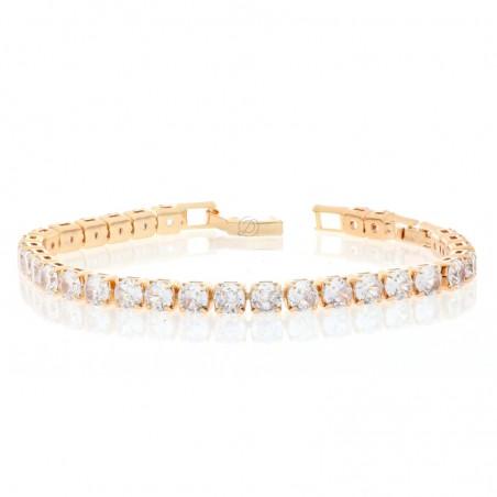 Bracciale tennis bijoux big bagnato in oro