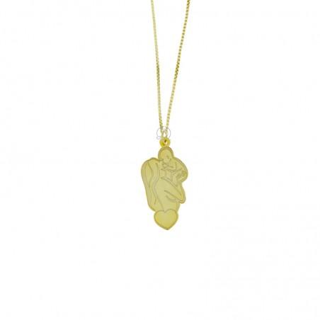 Collana maternità piccola argento placcato oro giallo