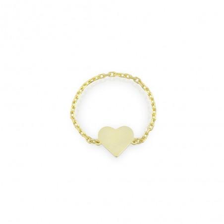 Anello donna cuoricino personalizzabile in argento 925% dorato