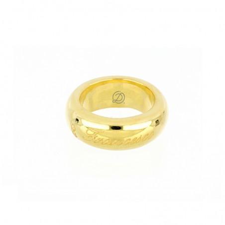 Anello fedone 9 mm personalizzabile in argento 925% placcato oro