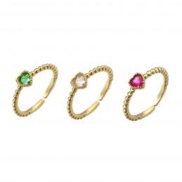 Set 3 anelli cuore mini...