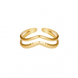 Anello donna Double Wave in...