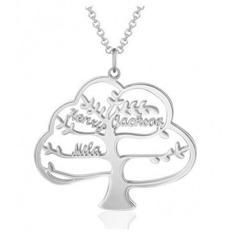 Collana albero della vita personalizzabile con nomi in argento 925%