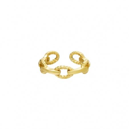 Anello regolabile in acciaio Melis placcato oro