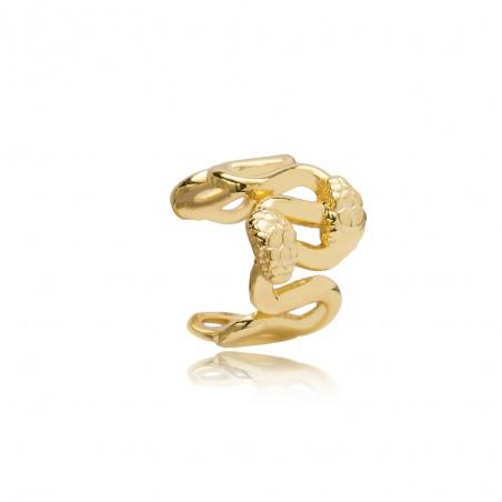 Orecchino Ear Cuff snake in argento placcato oro giallo