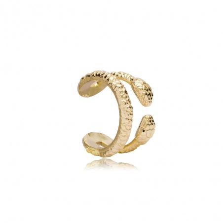 Orecchino Ear Cuff snake two in argento placcato oro giallo