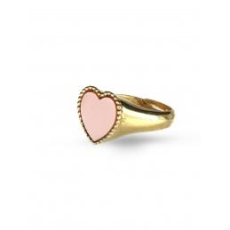 Anello chevalier cuore rosa...