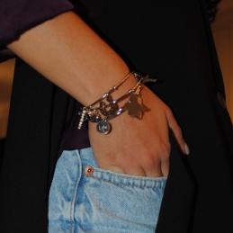 Collana Con Ciondolo Tartaruga In Argento 925% Catenina Veneziana 50 cm