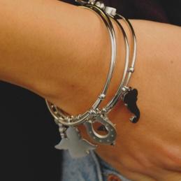 Collana Con Ciondolo Lettera G zirconata In Argento 925%Catenina Veneziana 45 cm