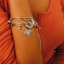 Collana con iniziale in argento 925% lettera F piccola collana 45cm veneziana