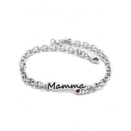 """Bracciale in argento """"MAMMA..."""